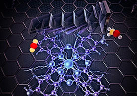 A conception of a new catalyst that converts carbon dioxide and water to methanol