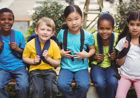 Children of different ethnicities and gender