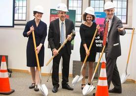 FAS Leadership Break Ground on 320 York Humanities Building