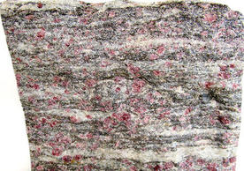 A rock sample from from the northern end of the Appalachian Mountain belt (Photo credit: Jay Ague)