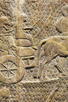 """Detail from bas-relief removed from Sennacherib's """"Palace Without Rival"""""""