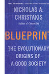 Book cover displaying a blue background with semi-visible architectural prints and the title Blueprint in capital letters and in orange.