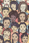 An illustration of diverse children's faces