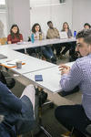 """""""Languages in Dialogue"""" meets in the Poorvu Center for Teaching & Learning"""