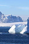 Image of frozen landscape with icebergs